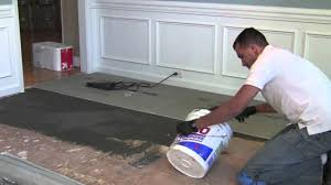 Tiling A Bathroom Floor On Concrete by How To Install Backer Board Durock For Floor Tile Youtube