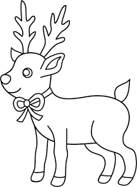Deer Of Christmas Coloring Pages For Kids