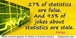 Matyo Quote 27 Of Statistics Are False And 95 Jokes About