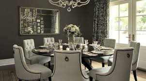 Amazing Round Dining Room Table For 8 In Gray Transitional Vallone Design
