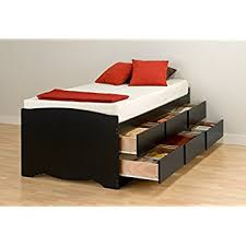 Amazon Black Twin Mate s Platform Storage Bed with 3 Drawers