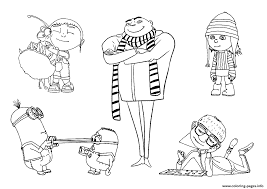 Despicable Me Minions Coloring Pages Print Download