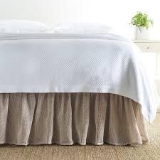 Linen Mesh Natural Bed Skirt Pine Cone Hill