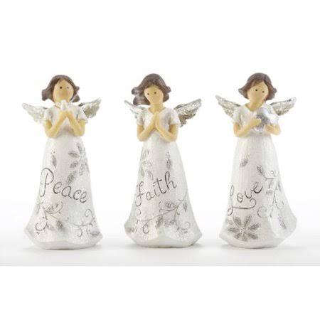 Delton 5.5 Inches Resin Starlet Angel, Set of 3