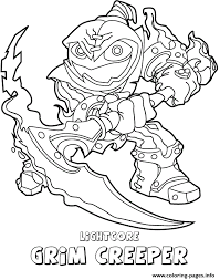 Skylanders Swap Force Undead Lightcore Grim Creeper Coloring Pages Print Download 255 Prints
