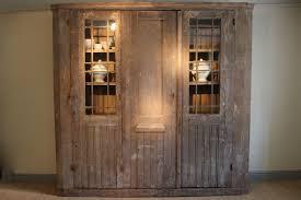 armoire bureau c19th painted glazed cupboard in original paint armoire