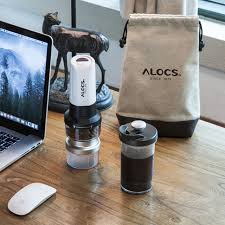 ALOCS KW K25 Outdoor Portable Electric Coffee Maker French Press