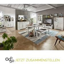 wohn und esszimmermöbel serie jülich 36 landhausstil in pinie weiß un