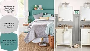 Paint Swatches In Off White Gray And Jade Green Bedroom With Wall