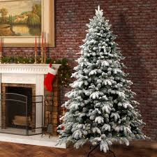 Snowy Avalanche 75 White Green Fir Trees Artificial Christmas Tree With LED Colored And Lights