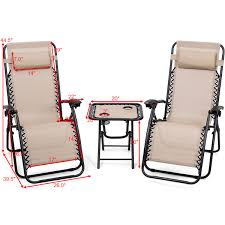 US $114.27 |Giantex 3PC Zero Gravity Reclining Lounge Chairs Pillows Table  Portable Folding Picnic Camping Set Outdoor Furniture OP3475CF On ... Patio Fniture Accsories Zero Gravity Outdoor Folding Xtremepowerus Adjustable Recling Chair Pool Lounge Chairs W Cup Holder Set Of Pair Navy The 6 Best Levu Orbital Chairgray Recliner 4ever Heavy Duty Beach Wcanopy Sunshade Accessory Caravan Sports Infinity Grey X Details About 2 Yard Gray Top 10 Reviews Find Yours 20