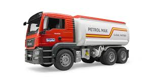 100 Bruder Logging Truck MAN Lorry With Fuel Tanker