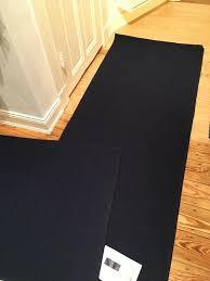 2 ikea tyrstedt teppich läufer aus wolle dunkelblau neuwertig
