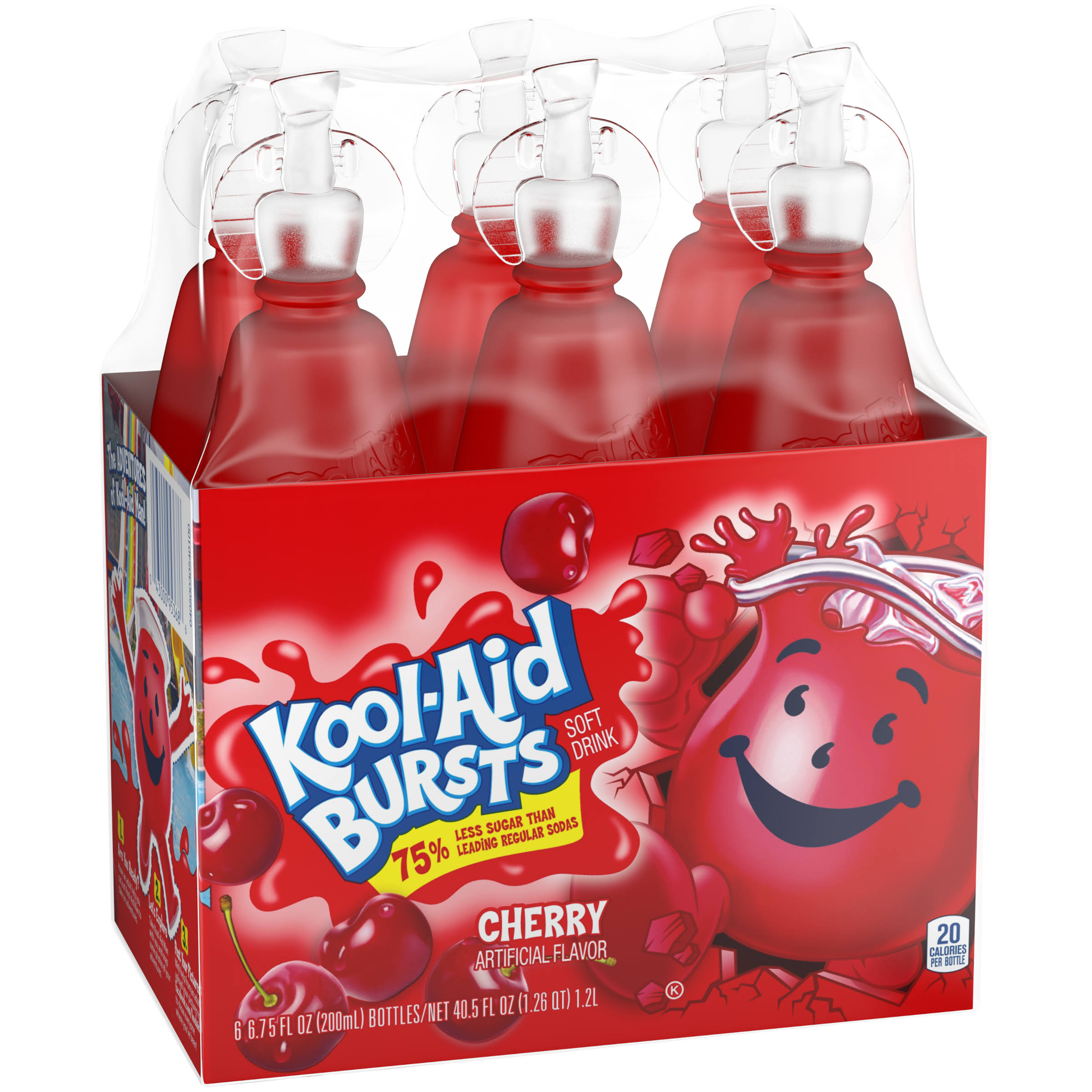 Kool-Aid Bursts Soft Drink - Cherry, 6.75oz, 6ct