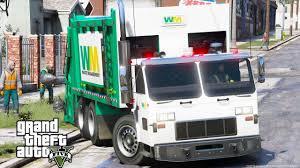 100 Sanitation Truck GTA 5 REAL LIFE MOD 21 SANITATION WORKER NEW WASTE MANAGEMENT