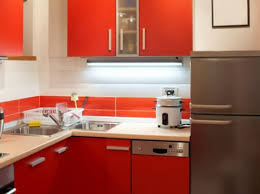 Modern Colorful Small Kitchen Design 2017