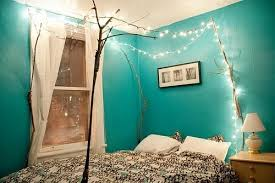 Romantic Bedroom With Christmas Lights