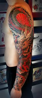 63 Chinese Dragon Sleeve Tattoo