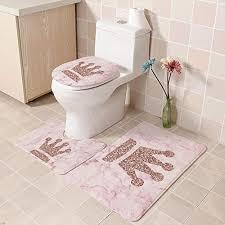 rosa wc vorleger und weitere badtextilien günstig