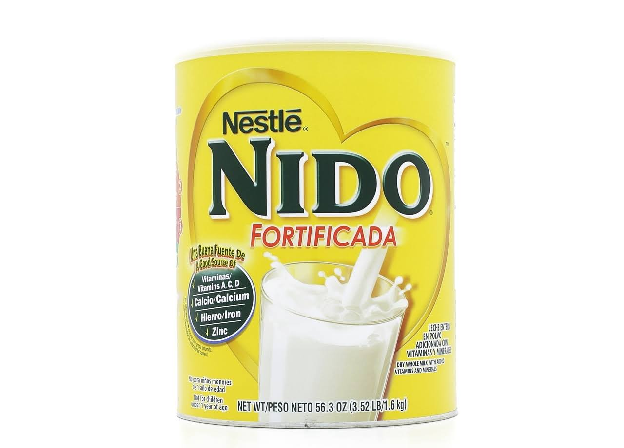 Nestle Nido Fortificada Dry Whole Milk with Added Vitamins and Minerals - 1.6kg