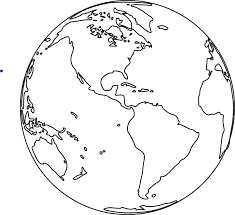 Best Photos Of Black And White Earth Coloring Page