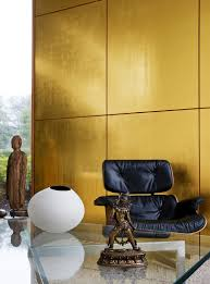 goldene wandpaneele im wohnzimmer mit bild kaufen