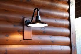 gooseneck barn lighting for mountain retreat