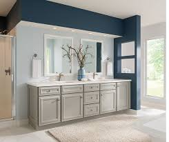 Color For Bathroom Cabinets by Gray Bathroom Cabinets Schrock Cabinetry