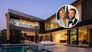 104 Beverly Hills Modern Homes John Legend Chrissy Teigen Lease Mansion Variety