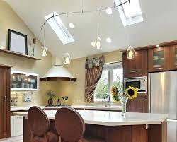 pendant light for sloped ceiling breakfast nook with skylight
