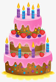 Birthday cake with candles Candle Birthday Cake Free PNG Image