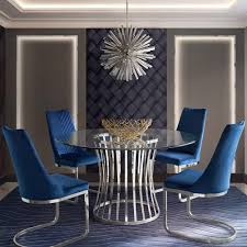 Vogue Set Of (4) Dining Chairs In Navy Blue Velvet With Polished Stainless  Steel Base By Diamond Sofa Small Round Ding Table In Black With 4 Teal Blue Velvet Chairs Rhode Island Kaylee Remarkable Navy Set Tufted Uptown Chair Silver Leaf Including Modern Lovely Pink Upholstered Gold Room Metal Frame Of 2 Extraordinary Covers Slipcovers A Rustic Elegant Thanksgiving Eclectic Living Room Home White Extendable 6 Vivienne Jenna Belinda Ding Chair Navy Khamila Fniture Store Kallekoponnet Kitchen Design Tiffany Slate Amusing