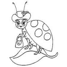 L For Ladybug Coloring Page
