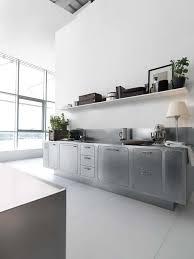 moderne küche edelstahl arbeitsplatten edelstahlküche