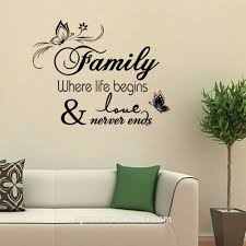 Wall Art Mirror Sticker Plastic Flower Chart Paper Decoration 3d Vinyl Quotes Family Where Life