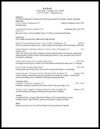 Freshmen Myacereportercom Rhmyacereportercom Template Sample Resume For Highschool Freshman College High School