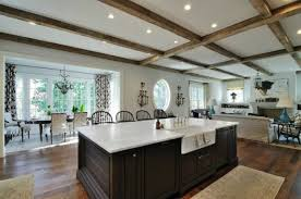 fancy kitchen pot lights layout adhered by textured ceiling paint