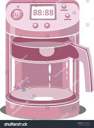 Illustration Of A Coffee Machine Pink