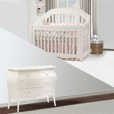 Sorelle Dresser French White by Natart Allegra 2 Piece Nursery Set In French White Crib And 3