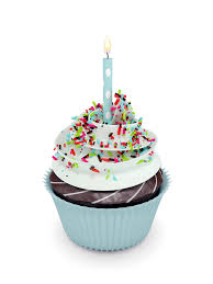 Download 3d Sweet Cupcake With Candle White Stock Illustration Image