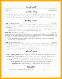Line Cook Resume Description Chef Samples Lead Sample Restaurant Example Examples Resumes Best