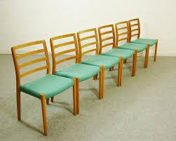 set 6 esszimmerstühle in eiche niels o möller modell