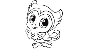 Elegant Baby Owl Coloring Pages 77 For Download With