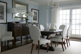 Superb Buffet Sideboardin Dining Room Beach Style With Arresting Benjamin Moore Coastal Fog Next To Gorgeous Theme Decor Alongside Alluring Light Blue