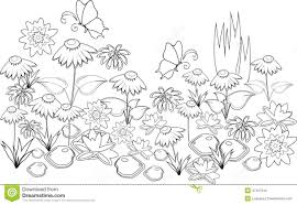 Flower Coloring Techniques Pages Of A Garden Ebook Database