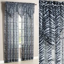 Animal Print Room Decor by Zebra Print Valance Baby N Toddler Sheer Curtains Arafen