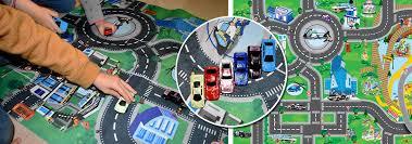 tapis de jeux voitures tapis de jeu circuit de voitures vroum nozarrivages