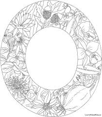 Letter O With Plants Coloring Page From English Alphabet Category Select 26559 Printable Crafts Of Cartoons Nature Animals