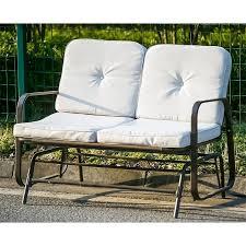 Patio Furniture Loveseat Glider by Merax Patio Outdoor Bench Loveseat Glider Rocking Chair Garden