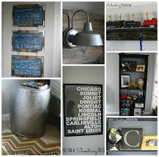 Bigger Boy Room Yellow Gray DIY Art By Chic On A Shoestring Decorating